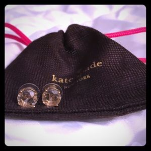 Kate Spade Clear & Gold Gumdrop Stud Earrings